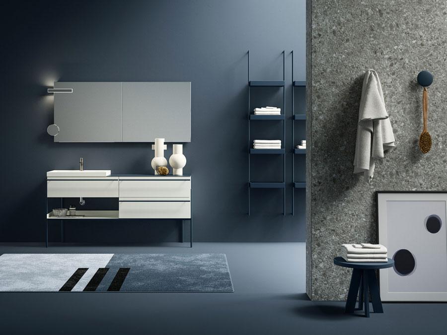 Lavabo-Salle-de-bain-étagère-Aménagement