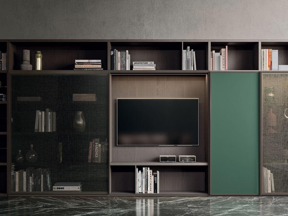 Meubles-télévision-Sol-marbre-moderne-salon